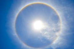 Halo de Sun dans le ciel Photographie stock libre de droits