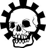 Halo del cráneo del engranaje Imagenes de archivo