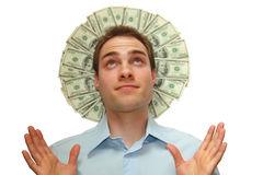 Halo del dinero Foto de archivo