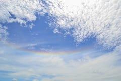 Halo del sol del arco iris Fotografía de archivo