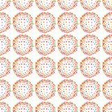 Halo hearts seamless pattern background vector illustration