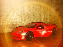 Halo Old Toy Car. Car Classic play Royalty Free Stock Photo