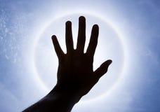 halo ręki cień zdjęcie royalty free