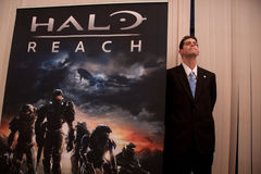 Halo Reach at X10 Press Event in San Francisco Stock Image