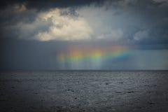 Halo/Regenbogen nach einem Gewitter Stockfotografie