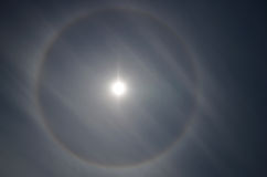 Halo, ring around sun Stock Photo