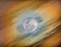 Halo rond de Maan Royalty-vrije Stock Fotografie