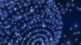 Halo stars. Abstract background with illuminated blue stars Royalty Free Stock Photography