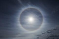 Haloeffekt auf den Himmel Stockfotos