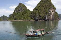 Halog Bay, Tonchino gulf, Vietnam Royalty Free Stock Photo