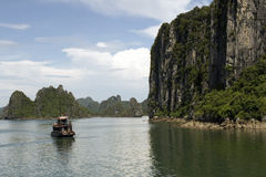 Halog Bay, Tonchino gulf, Vietnam Royalty Free Stock Image