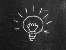 Halogen bulb on blackboard background3 Royalty Free Stock Photo