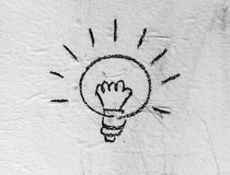 Halogen bulb on board background Stock Images