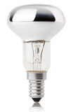 Halogen bulb on white Royalty Free Stock Photography