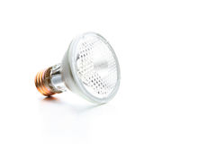 Halogen bulb on white Royalty Free Stock Photos