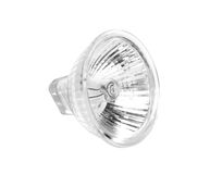 Halogen lamp projector on white. Halogen lamp projector isolated on white Stock Images