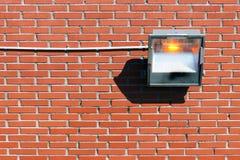 Halogen lamp on wall Royalty Free Stock Photos