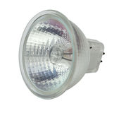 Halogen lamp. On a white background royalty free stock photo