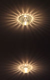 Halogen lamps on the ceiling Royalty Free Stock Photo