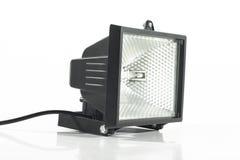 Halogen lantern on white. Black halogen lantern on white background Stock Photos