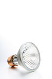 Halogen light bulb. Closeup on brushed metal / silver background. canon 5D full frame royalty free stock images