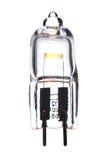 Halogen light bulb isolated on white. 12 V halogen light bulb dimmed to 3 V Stock Images