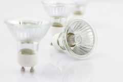 Halogen light bulb on a white background Royalty Free Stock Image