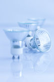 Halogen light bulb on a white background Royalty Free Stock Images