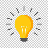 Halogen lightbulb icon. Light bulb sign. Electricity and idea symbol. Icon on isolated background. Flat vector illustration. stock illustration