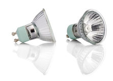 Halogen Lights bulb with path Royalty Free Stock Photography