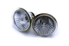 Halogen reflector lamp. On a white background Stock Image