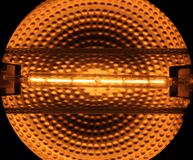 Halogen-Rohr Stockfotografie