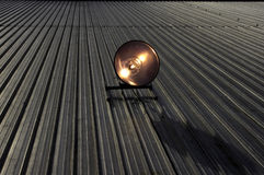 Halogen roof spotlight in action Royalty Free Stock Image