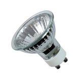 Halogen spot light bulb. Energy efficient halogen spot light bulb isolated on white background Stock Image