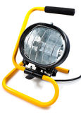 Halogen work light on a white background Royalty Free Stock Photography