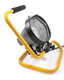 Halogen work light on a white background Stock Photography