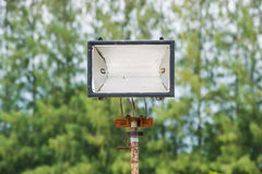Halogenlaternenpfahl Park am im Freien Lizenzfreie Stockbilder