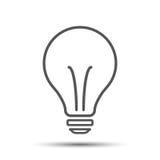 Halogenlightbulbsymbol Tecken för ljus kula Elektricitets- och idésymbol royaltyfri illustrationer