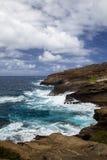 Halona小海湾,奥阿胡岛 库存图片