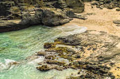 Halona Beach Cove, Honolulu, Oahu Hawaii Royalty Free Stock Photos