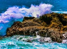 Halona Blow Hole Hawaii. Honolulu , Oahu,  Hawaii, USA - September 4, 2015:  Sandy Beach Park,  including Halona Blow Hole and Koko Head crater, is a beautiful Royalty Free Stock Photography