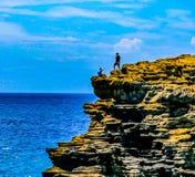 Halona Blow Hole Hawaii Lookout. Honolulu , Oahu,  Hawaii, USA - September 4, 2015:  Sandy Beach Park,  including Halona Blow Hole and Koko Head crater, is a Stock Photos
