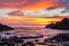 Halona Cove Sunrise Royalty Free Stock Images