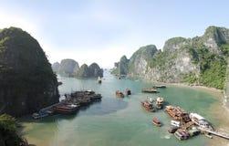 海湾halong越南 库存图片