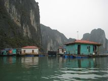 Halong Baai in Vietnam, Quang Ninh royalty-vrije stock afbeelding