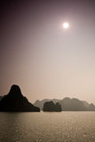 Halong Bay. Dreamy landscape in Ha Long Bay, Vietnam Royalty Free Stock Images
