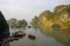 Halong bay. With clear sky Stock Image