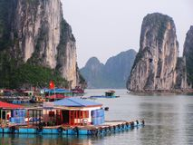 Halong bay. Scenes from Halong bay in Northern Vietnam royalty free stock photo
