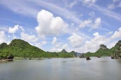 Halong Bay. On the way home at Halong Bay stock images