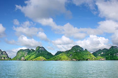 Halong Bay. Ha Long Bay with Rock Mountains Royalty Free Stock Photo